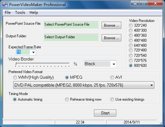 powervideomaker PPT转换视频